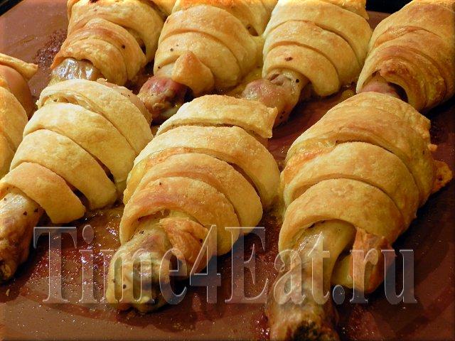 Куриные голени с сыром запеченные в тесте