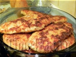 Куриная грудка в сырной панировке