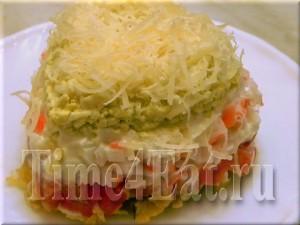 Слоеный салат с чипсами