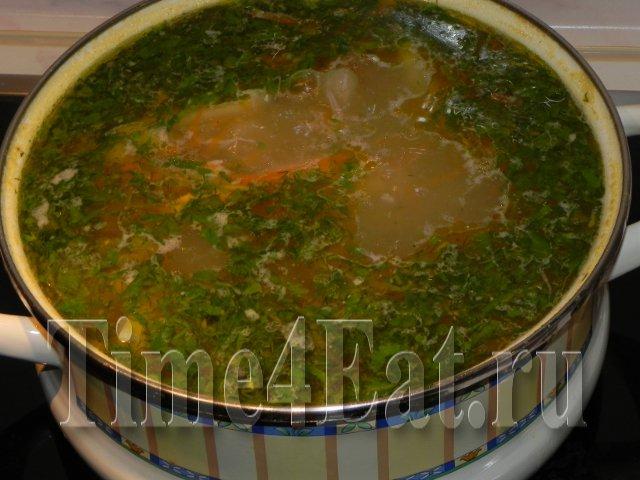 Куриный суп с картофелем и вермишелью,