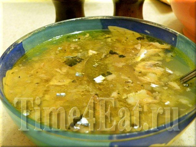 Суп из сайры (консервированной)