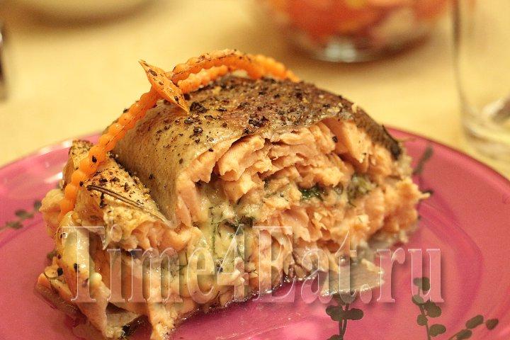 Форель с сыром и зеленью-3
