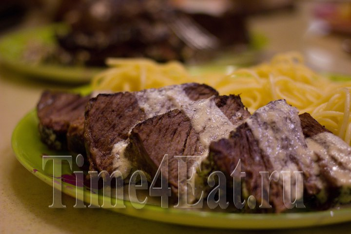 Мраморная говядина в сливках