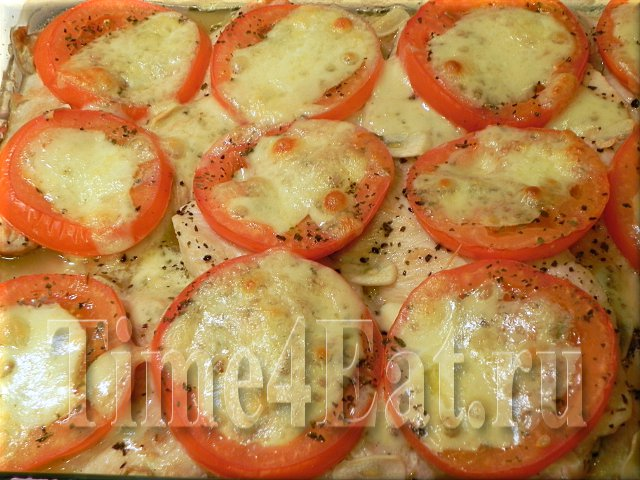 "Филе индейки с томатами и сыром ""Моцарелла"""