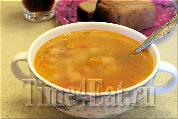 Суп из форели с овощами