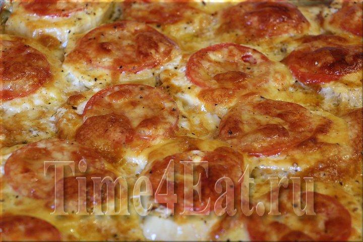 запеченные баклажаны с сыром ветчиной и