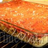 Каннеллони с мясом и грибами в томатном соусе