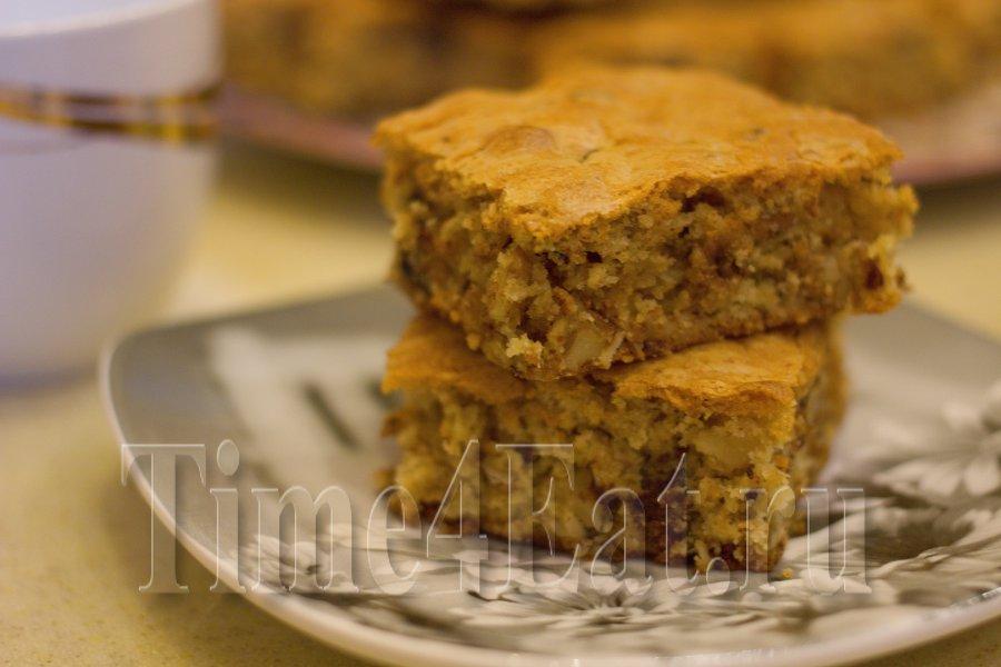 Кекс «Блонди» с грецкими орехами