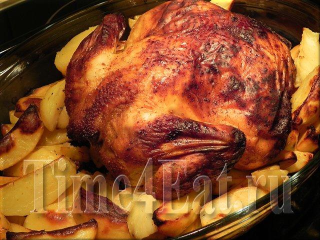 Курица запеченная с картофелем