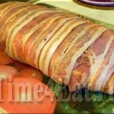 Мясо запеченное в беконе