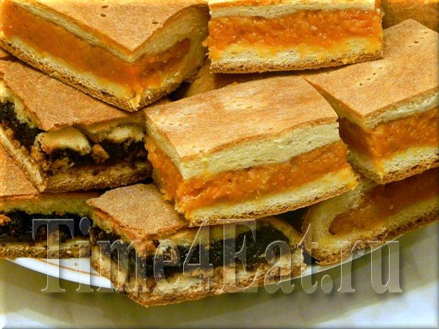 Пирог с курагой и пирог с черносливом