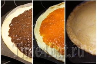 Пирог с курагой и черносливом-1