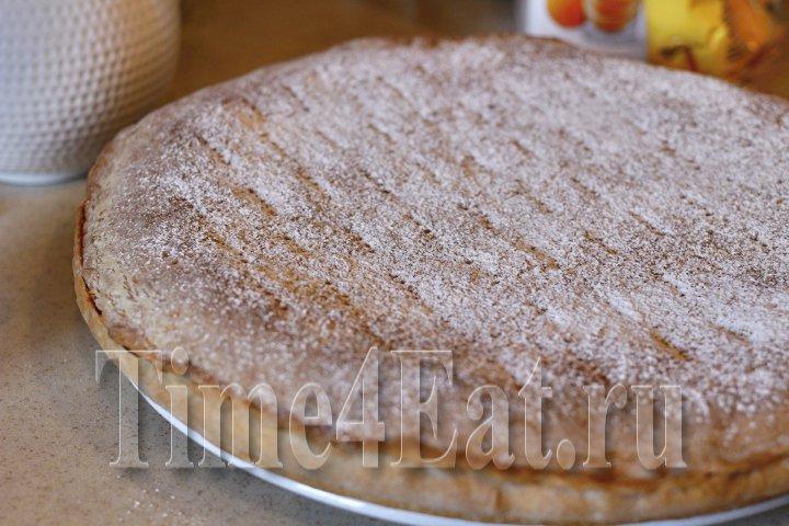 Простой пирог с курагой-2