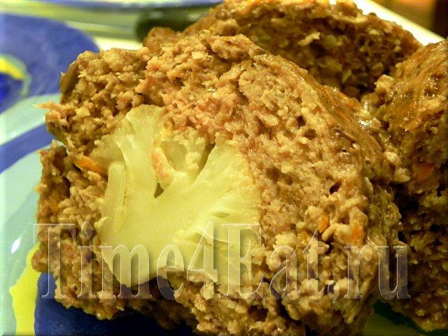 Мясной рулет с цветной капустой