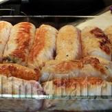 Рулетики из индейки с сыром и грибами
