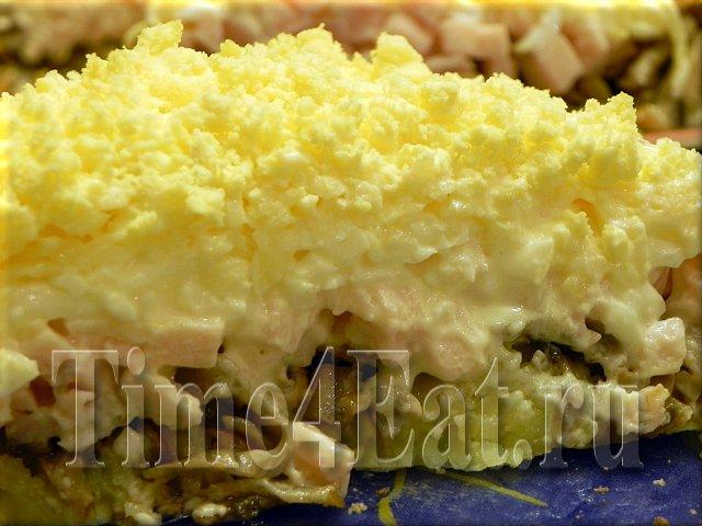 Курица с ананасами и огурцом салат рецепт классический
