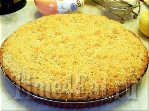 Сливовый пирог со штрейзелем