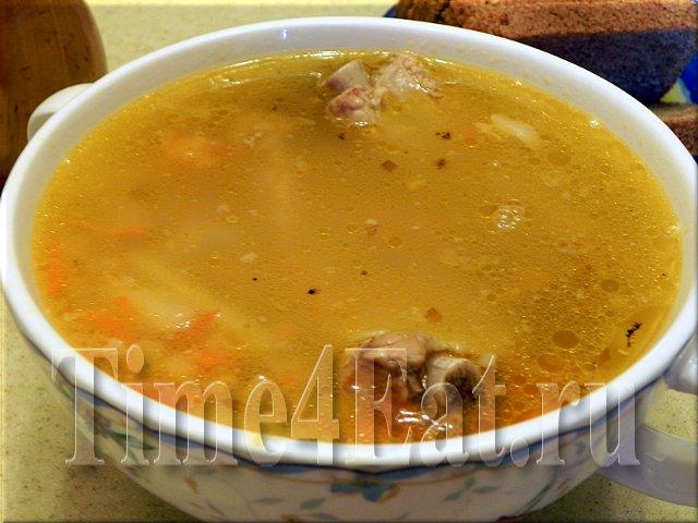 Мясной суп с красной чечевицей