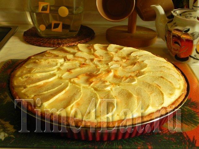Яблочно — творожный пирог
