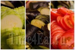 Запеканка из кабачков с баклажанами и томатами-1