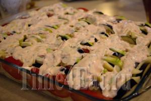 Запеканка из кабачков с баклажанами и томатами-3