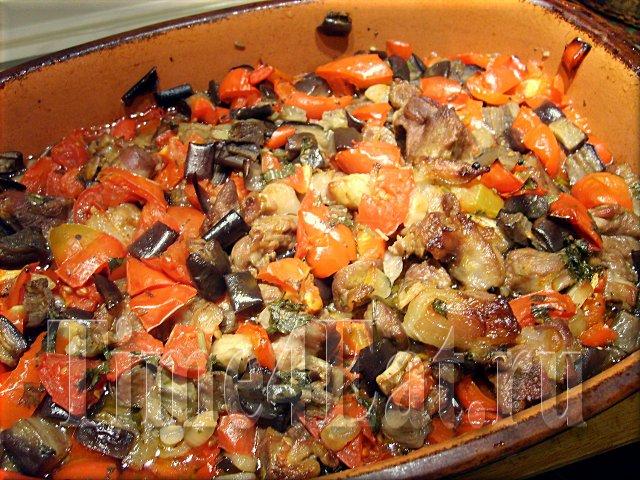 рецепт жаркого с баклажанами и мясом