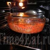 Жаркое из говядины с копчеными колбасками